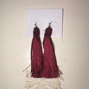 Crimson Dangly Earrings